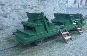 Vagoneta del funicular.