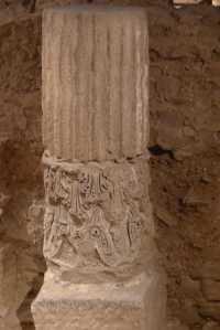 Columna de l'església paleocristiana.