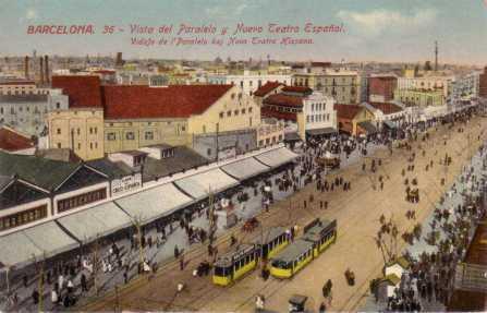 El nou Teatre Espanyol, poc després de l'incendi de 1907.Col•lecció particular, Barcelona.