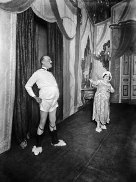 L'actor Josep Santpere durant una representació teatral, 1920, Alexandre Merletti Guaglia. Col. Merletti / Institut d'Estudis Fotogràfics de Catalunya.