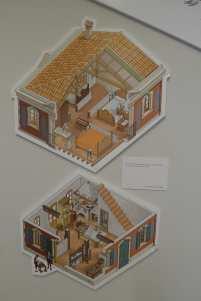 Dibuixos de com era l'interior de la casa.