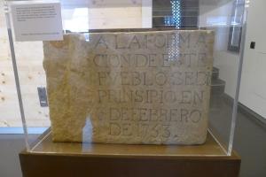 Rèplica de la primera pedra de la Barceloneta.