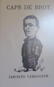 Caricatura publicada a l'Esquella de la Torratxa amb motiu de la publicació de Canigó.