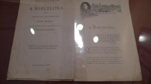 Exemplar de l'Oda a Barcelona.