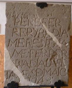Pedra fundacional de Vil·la Joana.