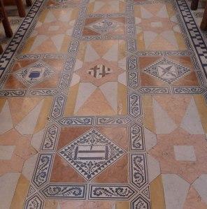 Detall del paviment del Saló de Cent.
