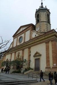 L'església parroquial.