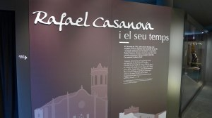 Plafó d'inici de l'exposició Rafael Casanova i el seu temps.