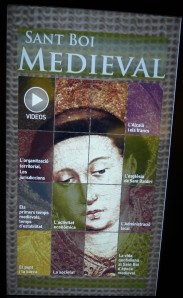 Plafó tàctil de l'època medieval.