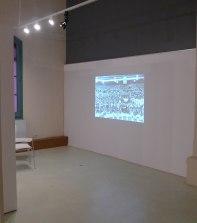 Audiovisual a l'exposició. Foto: Joan Àngel Frigola.