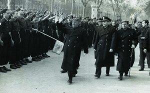 El general Franco visita Barcelona, 27 gener 1942. AFB