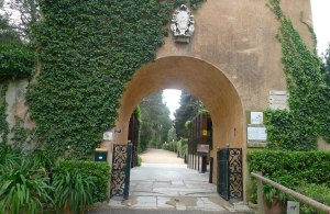 Entrada als Jardins de Santa Clotilde.