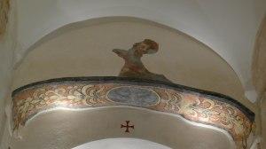 Detall de les pintures a l'absis lateral.