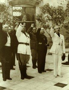 Visita comte Ciano al palau de la Generalitat,11 juliol 1939. AFB.