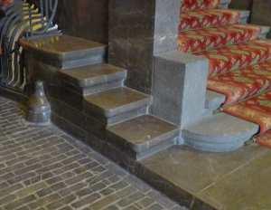 Detall del paviment interior de l'entrada.