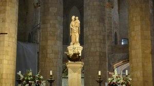 Imatge de la Mare de Déu que presideix l'altar.