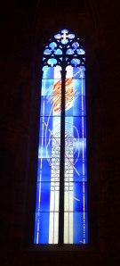 Vitrall commemoratiu dels Jocs Olímpics.