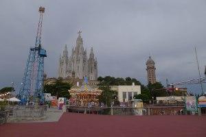 El cim del Tibidabo a l'actualitat.