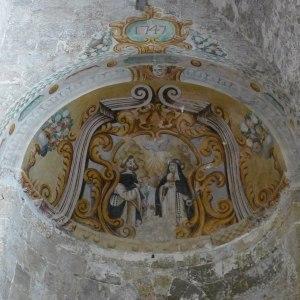 Pintura a l'absis de la nau lateral dreta.