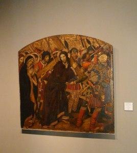 Jesús camí del Calvari. Jaume Huguet. MFM.