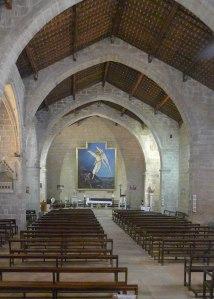 Interior església de Sant Miquel.