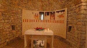 Interior de l'ermita de Sant Martí.