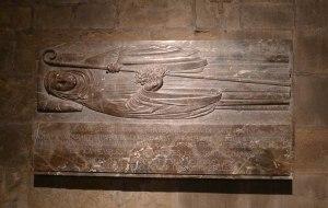 Làpida en record de l'abadessa Emma.