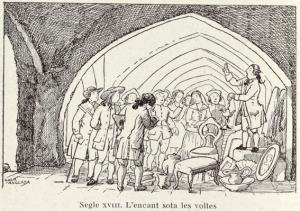 Dibuix de Lola Anglada per al llibre Visons Barcelonines de Francesc Curet.