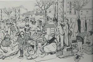 Dibuix d'Opisso per a L'Esquella de la Torratxa. 1927.