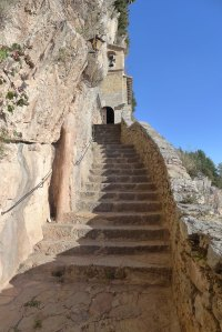 Les escales de pujada al santuari.