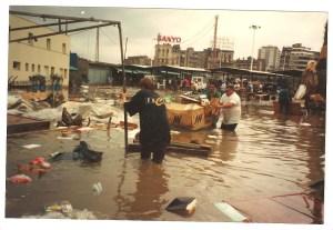 Inundació de l'any 1985. Fotografia: Rxiu Joan Damià.