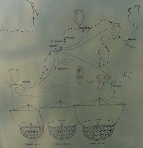 Plafó amb informació de les rutes de comerç dels cessetans.