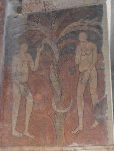 Adam i Eva, a l'absis central.