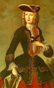 Retrat de la reina Elisabet Cristina.