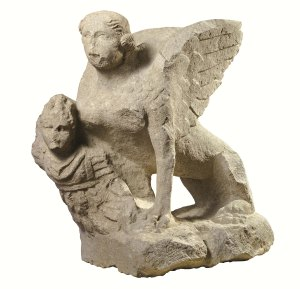 Esfinx capturant un guerrer. Segona meitat segle I dC. Museo Civico Archeologico di Bologna.