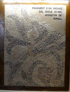 Fragment de mosaic del monestir.