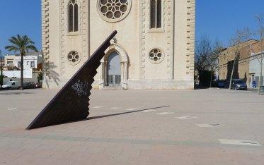Rellotge de sol a la plaça de l'Església.