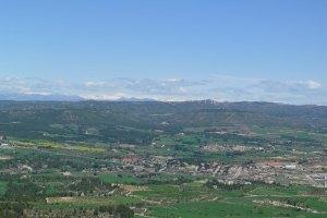 Vall d'Òdena des del mirador del Sant de la Donzella.