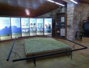 Maqueta i exposició al Cap de l'Ecomuseu.