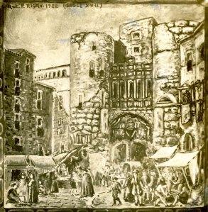 La plaça Nova al segle XVI. Arxiu AFPN.