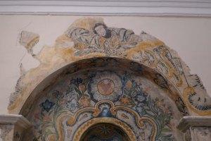 Pintura barroca a la capella del Sant Crist.
