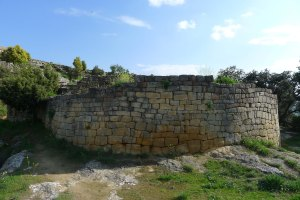 Muralla del poblat ibèric de Sant Antoni.