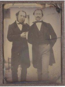 Retrat 2 homes, 1850-55. AFB. P
