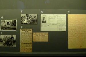 Documents a l'exposició amb la fitxa laboral del comissari Creix.