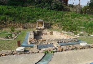 Recrecaió del jardí de la vil·la romana.