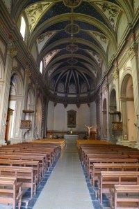 Nau de l'església parroquial de Sant Vicenç.