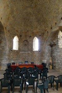 Interior de la capella del castell, avui sala de plens de l'Ajuntament.