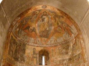 Maiestas Domini i pintures murals a Santa Eulàlia.
