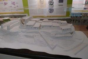 Maqueta del poblat iber Els castellans al Centre de Visitants.