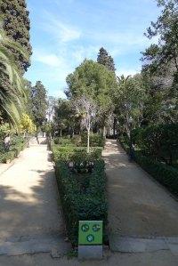 Part alta dels jardins, a la zona de l'avinguda Miramar.